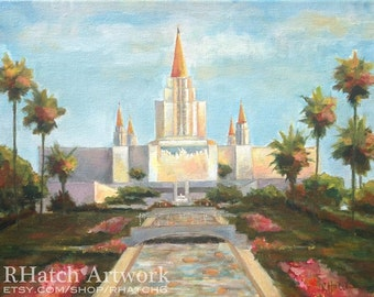 Oakland LDS Temple PRINT, variety of sizes available