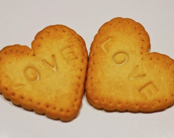 Heart Shaped Cookie Biscuit Fridge Magnets