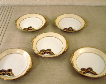 Nippon Small Dishes, Butterfly Pattern (5 pieces)