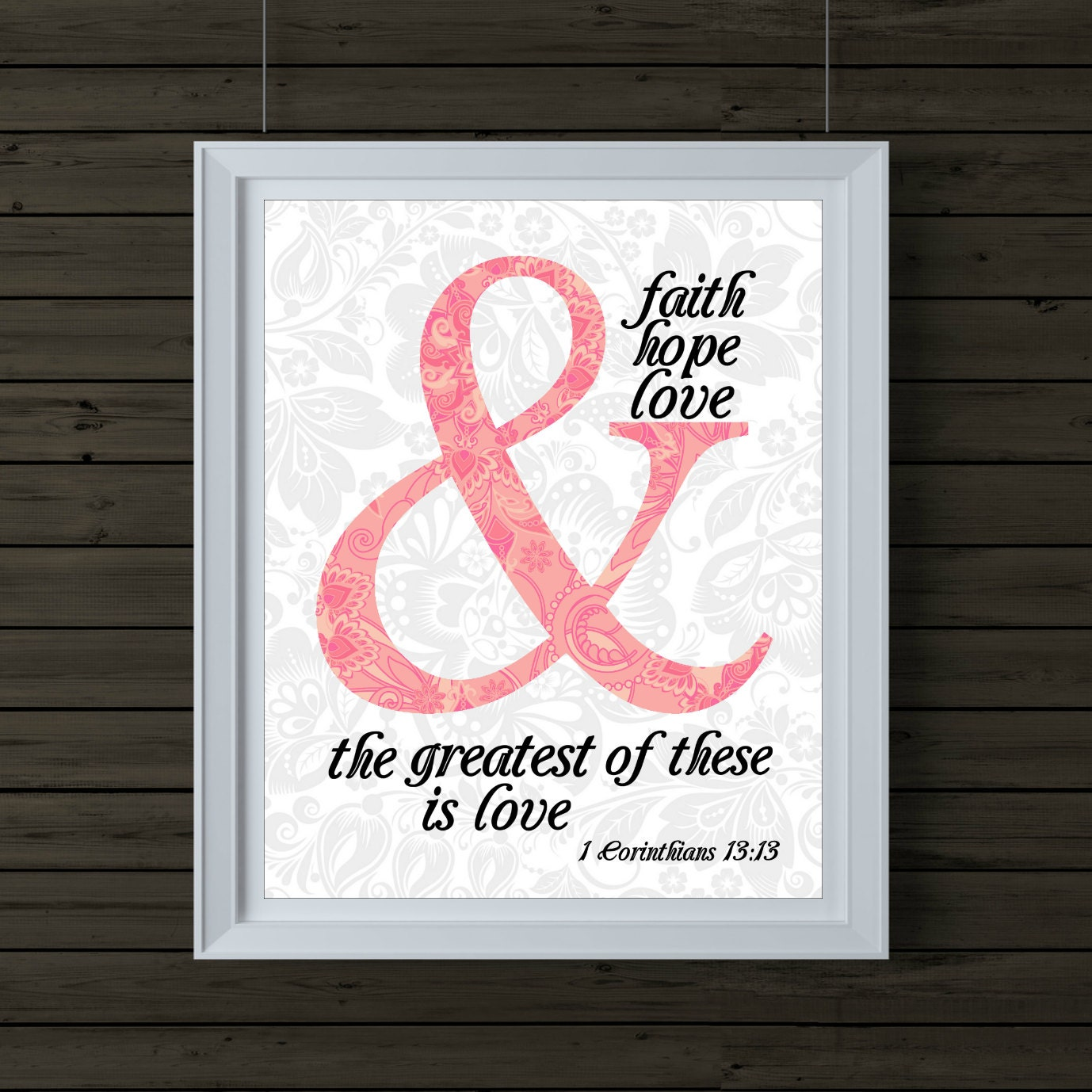 scripture wall art 1 corinthians 13 13 and by. Black Bedroom Furniture Sets. Home Design Ideas