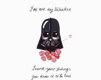 Darth Vader Valentine's Card