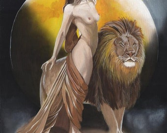 """Fantasy art print - mounted ready to frame  - """"The Sentinal"""""""