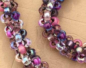Pink Purple Intricate Necklace Bracelet Anklet Rope
