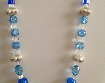Blues and Silver accent Necklace
