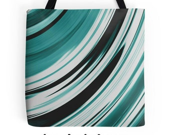 Teal Tote Bag, Turquoise Purse, Blue Green Accessories, Teal Bag