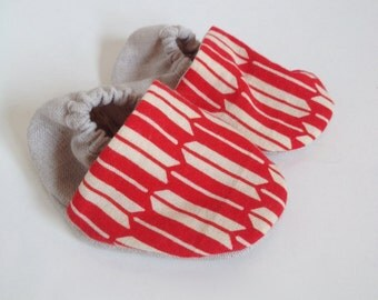 Baby Shoes Red YABANE & Linen