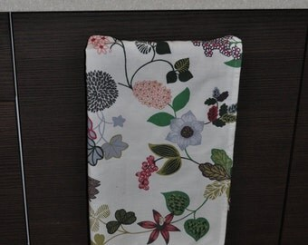 Handmade Cotton kitchen / tea  towel with flowers gift