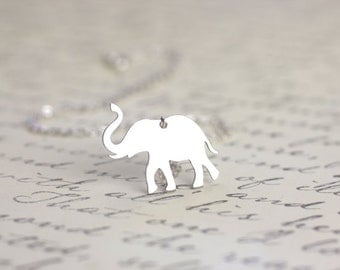 African Elephant Necklace - Pachyderm jewelry, Elephant pendant, Sterling silver jewelry, african wildlife, animal lover