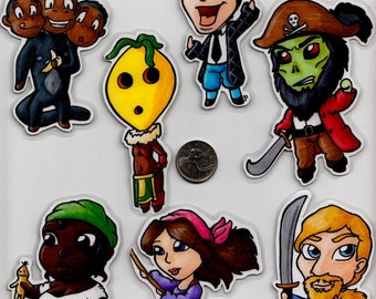 Monkey Island Magnets - Handmade