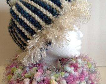 Knitted Chunky Cowl - Pastel