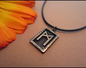 Viking Mannaz Rune Pendant - Man