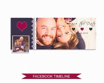 Facebook Timeline Cover Photoshop Template - FBEM05