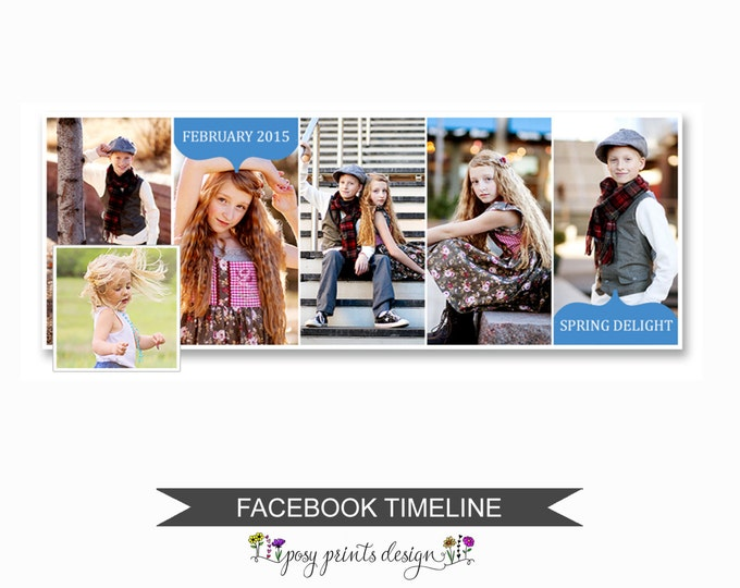 Facebook Timeline Cover Photoshop Template - FBT01