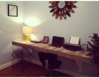 Reclaimed Wall Mount Desk