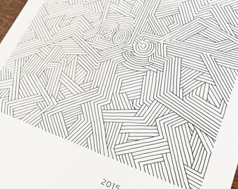 2015 Silkscreened Wall Calendar