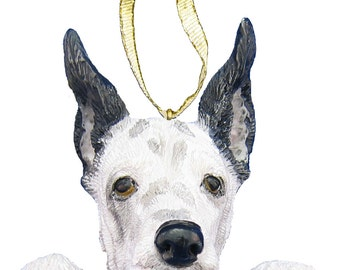 Harlequin Great Dane Ornament With Personalized Name Plate A Great Gift For Great Dane Lovers