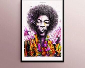 Jimi Hendrix poster, by Fred Jourdain