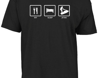 Eat Sleep Jetski t-shirt