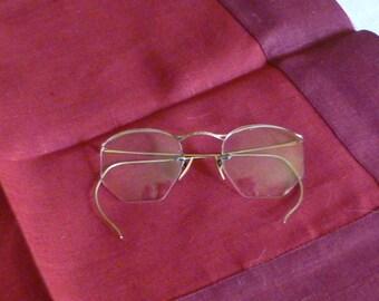 TWO pair of vintage eyeglasses - turn of the last century