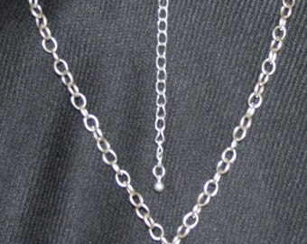 Silver Tone Necklace with Taupe Pendant
