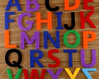 Sassoon Alphabet Set 3mm Felt Upper Case Letters A-Z 26 Characters Sizes 5-12cm