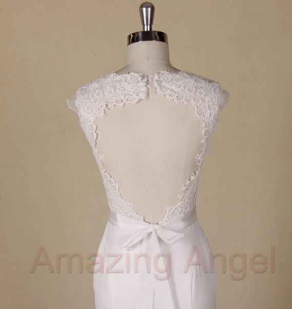 Amazing Elegant Lace Wedding Dress Open Back By AmazingAngel