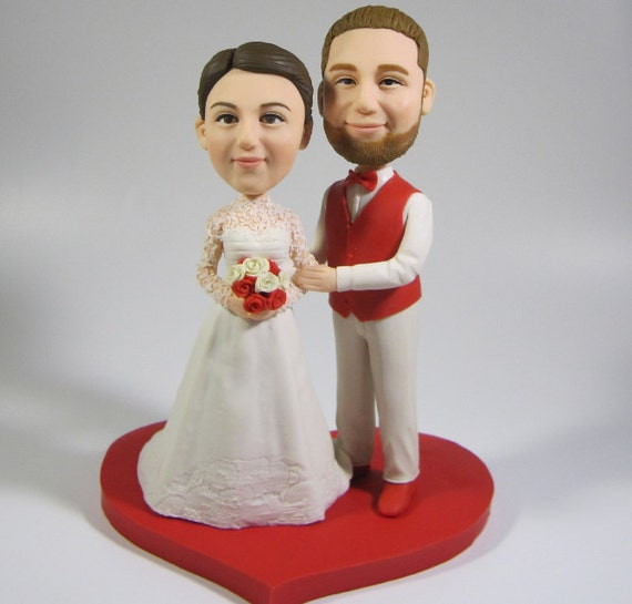 Items Similar To Wedding Cake Topper Personalized Toppers Funny Cartoon Bride Amp Groom Figure