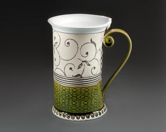 Ceramic Mug, Tea Mug, Hanbuild mug, Ceramics and pottery, Ceramic cup, Tea cup, Coffee cup, Green mug, Coffee mug, Unique mug, Birthday gift