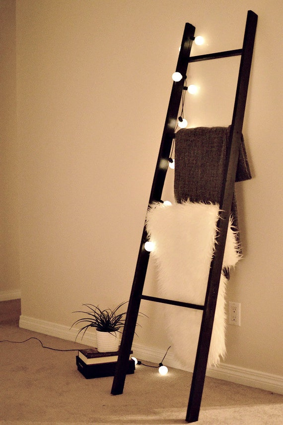 Handmade blanket ladder home decor made to order for Ladder house decor