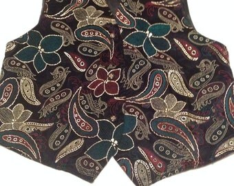 Festive Holiday Vest 67 Karol Place /Festive Med/ Very Good Condition /Beautiful 80's Vintage/Free Shipping