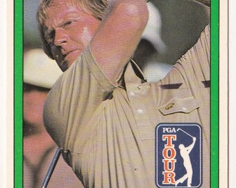 Jack Nicklaus 1981 Donruss #13 Golf Card - PGA Tour