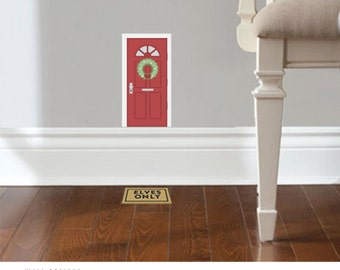 Christmas Elf Door - Decal accessory made from reusable vinyl