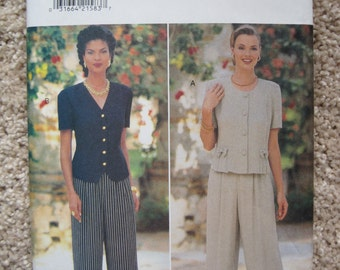 UNCUT Misses Top and Pants - Size 12 ,14, 16 - Butterick Sewing Pattern 4004