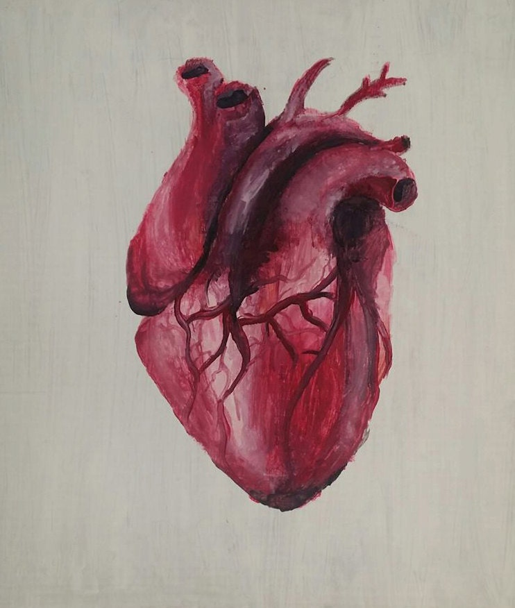 Oil Painting of a Real Human Heart on Cardboard by PlzRain ...