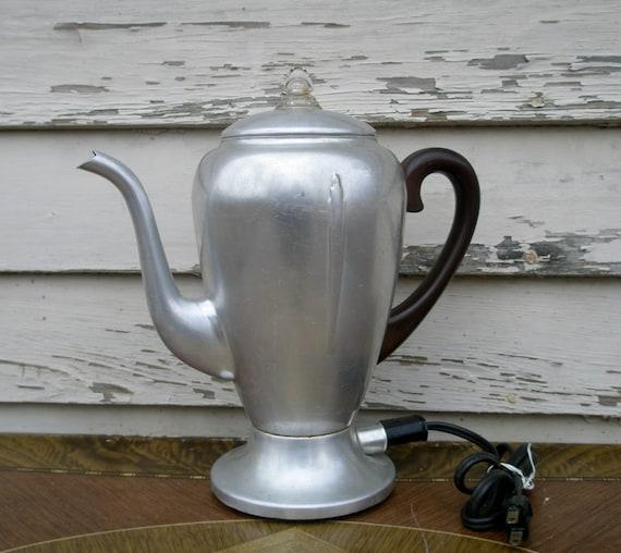 Mirro Percolator Coffee Maker : Vintage Mirro-Matic Percolator 8 Cup Electric Coffee Maker