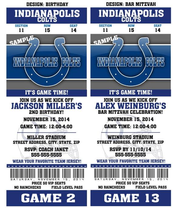 Wedding Invitations Indianapolis: Printable Birthday Party Invitation Card Indianapolis Colts
