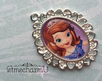 Sofia the First Pendant - Sofia the First Pendant - Sofia the First Necklace - STF Necklace - Sofia the First jewelry