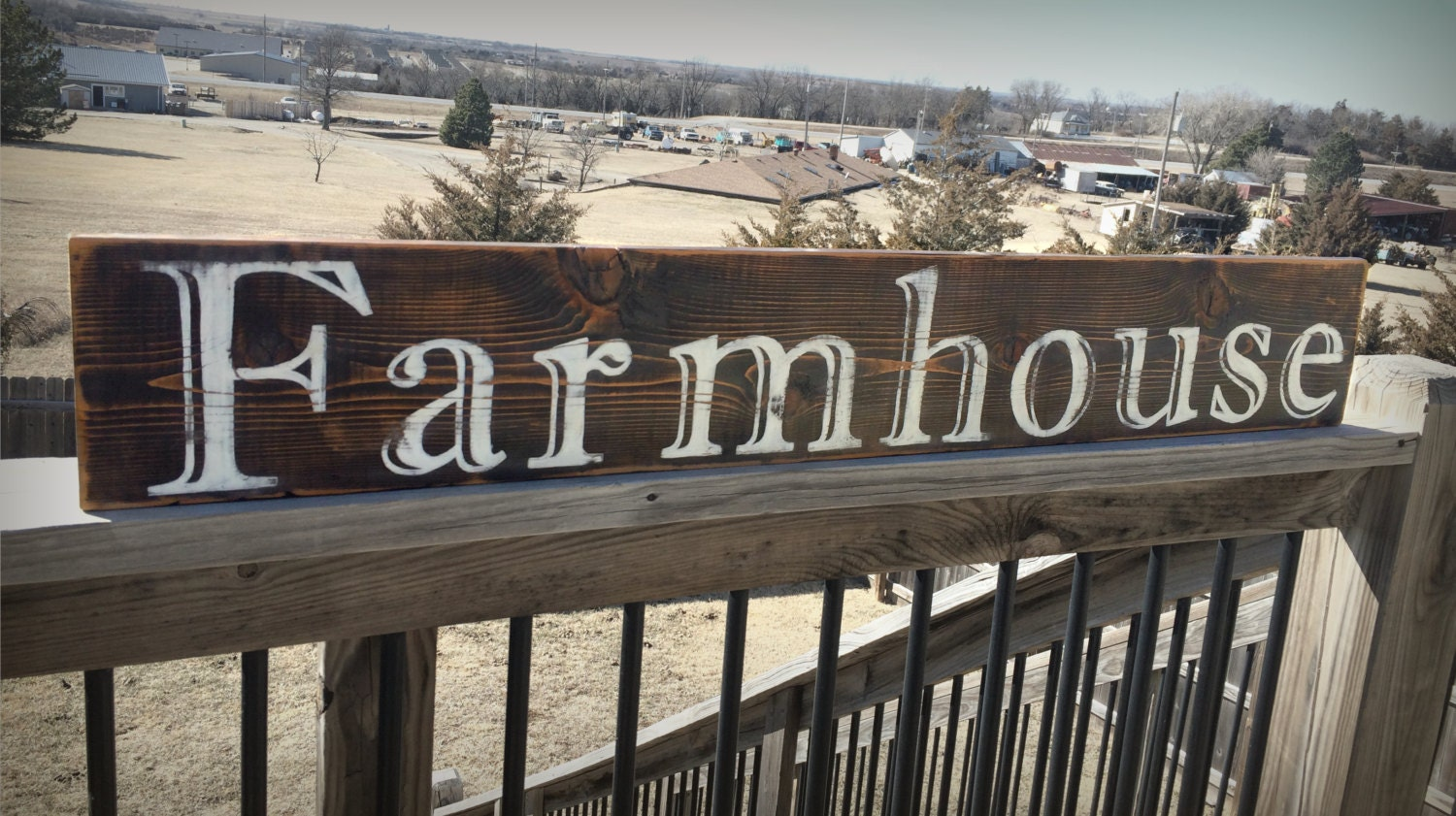 Large Farmhouse Sign Rustic Wooden Sign Wood By BrushLightGold