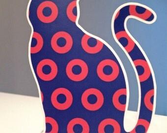 Phish Cat die cut sticker