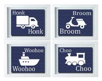 Transportation Room Decor, Transportation Wall Art, Boy Room Wall Art, Transportation Nursery Decor, Boy Room Decor, Playroom Wall Art