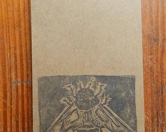 bee handmade pocket notebook, brown