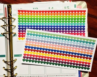 276 Tiny Heart Color Coding Stickers with option for CUSTOMIZATION for Erin Condren Life Planner & Plum Paper Planner