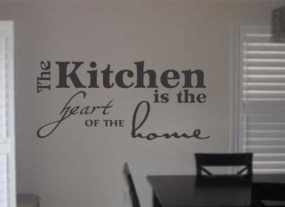 The Kitchen Is The Heart Of The Home Wall By Lynchmobgraphics