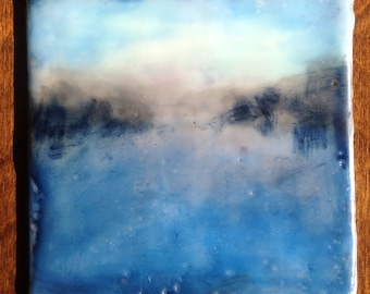 "Original encaustic painting, encaustic art, mixed media- ""Still""-series"