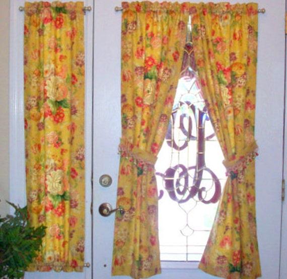 sample door panels custom rod pocket front by windowtoppings. Black Bedroom Furniture Sets. Home Design Ideas