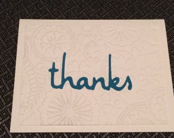 handmade thank you cards - stack of 8 with envelopes