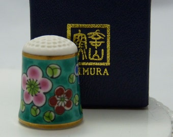 Nimura thimble, japan, Plum Blossom boxed