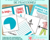 Hands-on fractions - Spanish-