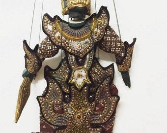 "Vintage Burmese marionette (Demon Giant) 24"""