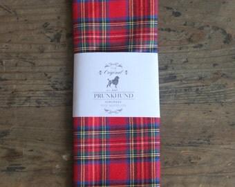 Dog bandana Highland with red tartan pattern
